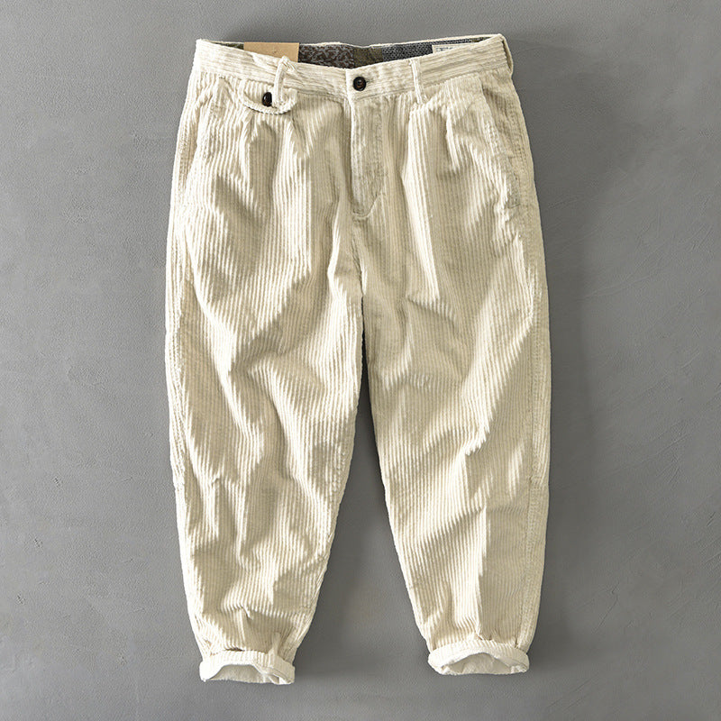 Japanese Men's Corduroy Casual Pants