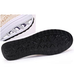 Lace Breathable Platform Rocker Sole Shake Shoes For Women