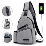 Large Capacity Outdoor USB Charging Port Chest Bag
