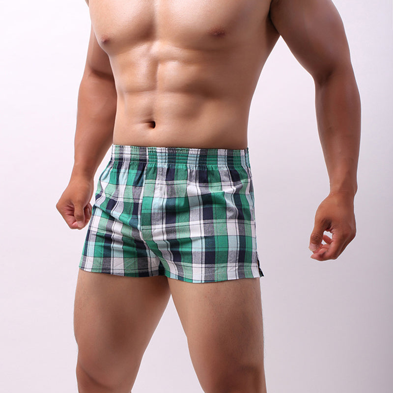 Arrow Pants Home Sports Grid Breathable Boxers