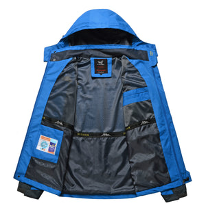 Plus Size Outdoor Sport Climbing Water Resistant Hooded Jacket