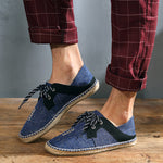 Men Soft Flat Slip On Espadrilles