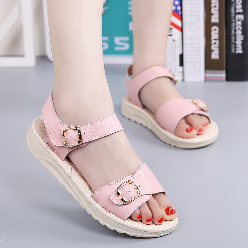 Colorful Leather  Beach Sandals Slippers