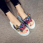 Summer butterfly handmade DIY high heel casual slippers