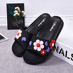 Summer non-slip simple flowers indoor beach home slippers