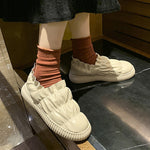 Ruffled Plush Warm Shoes