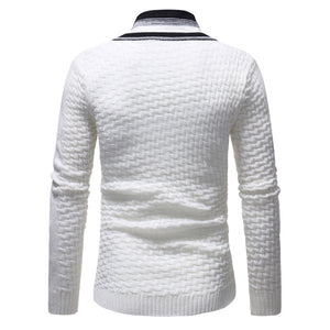 Men's Long Sleeve Turtleneck Knit Sweater Casual Basic Black Sweater