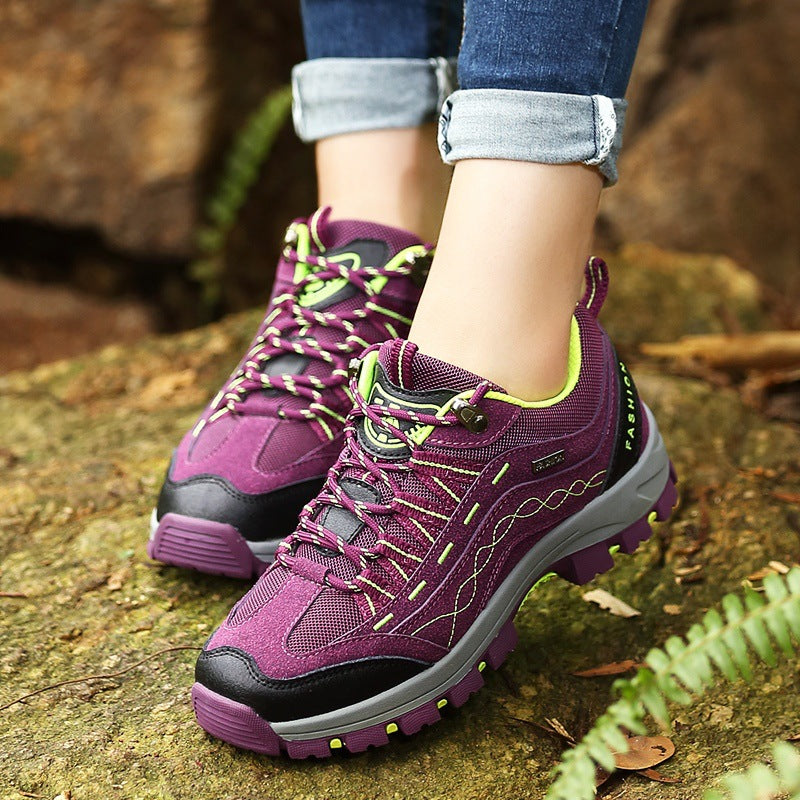Outdoor Suede Walking Slip Resistant Casual Comfortable Sneakers