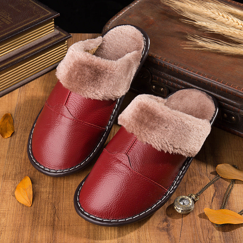 Winter Non-slip Warm Home Slippers