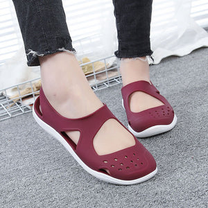 Women Casual Beach Hollow Out Jelly Flat Sandals