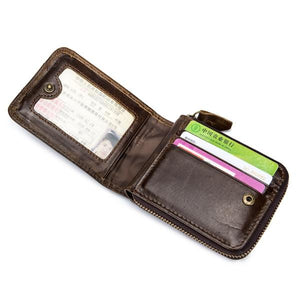 Bullcaptain RFID Genuine Leather Wallet