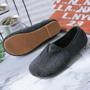 Women Comfortable No Heel Fleece Fur Slip-On Loafers