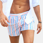 Men Colorful Stripe Swimsuits Board Shorts