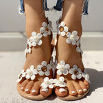 Flower Slip On Flat Sandals