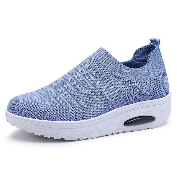 Platform Casual Flying Woven Shoes