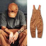 Men's Loose Straight-Leg One-Piece Overalls