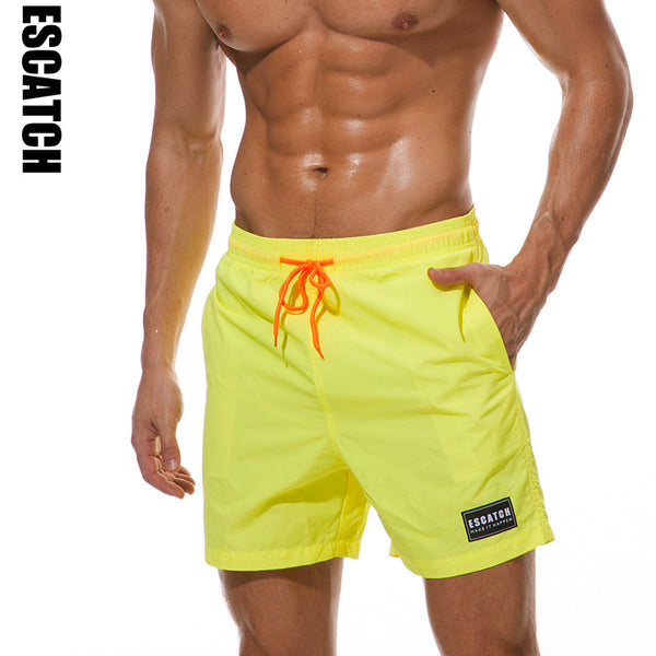 02bcbce0bf ... Mens Summer Quick Dry Water Repellent Sport Drawstring Solid Color Board  Shorts ...
