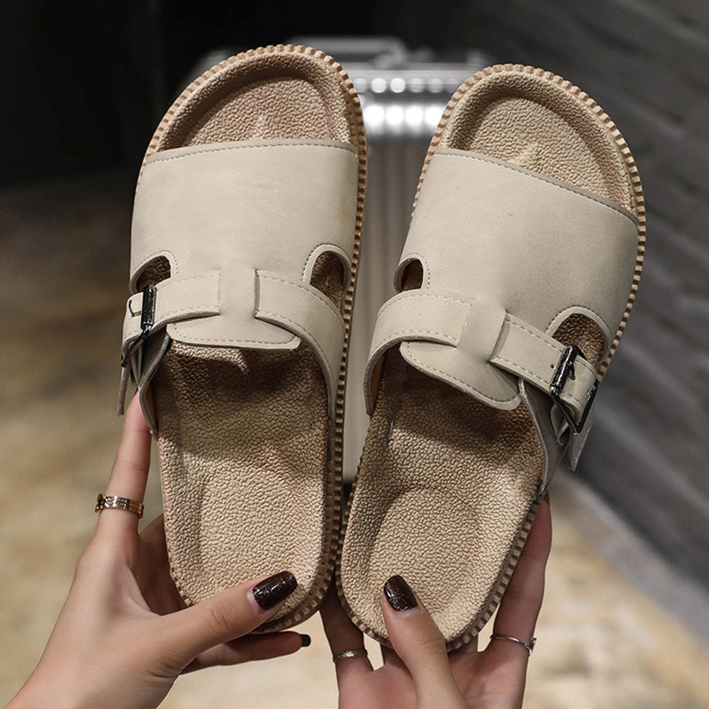 Buckle Backless Slip On Casual Sandals