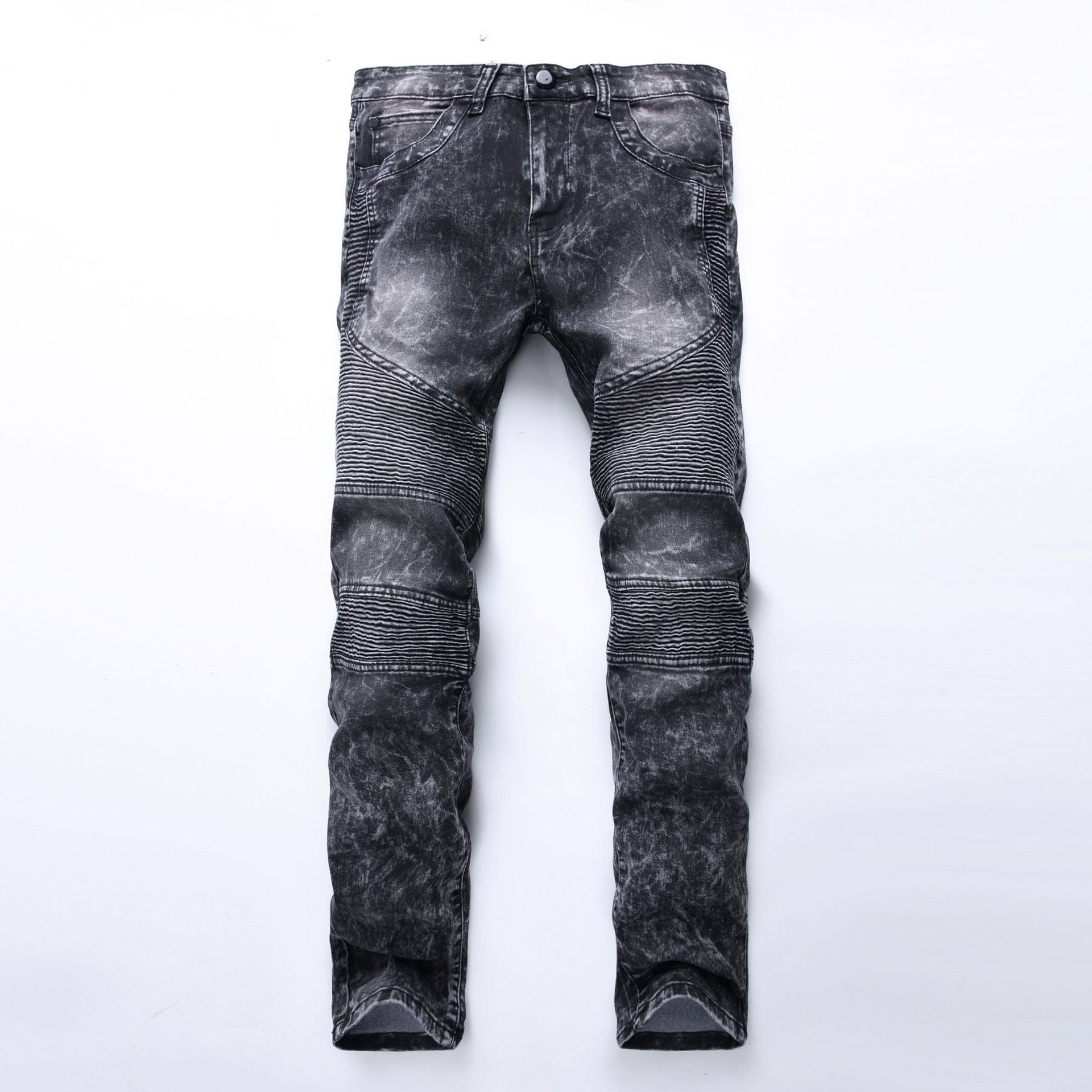 Slim Fit Straight Holes Ripped Casual Jeans
