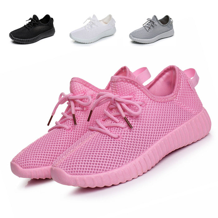 Breathable Fly-knit Mesh Slip On Sneakers