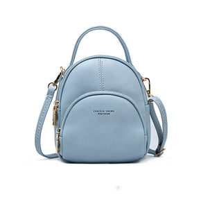 Women Stylish Multi Function  Shoulder Bag Mini Backpack