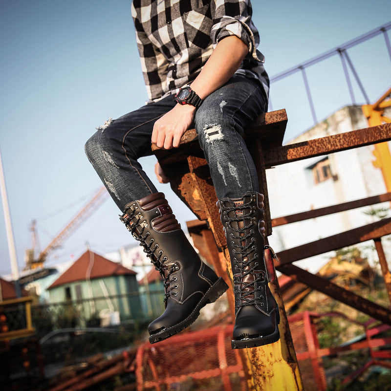 Men's Lace Up High Boots