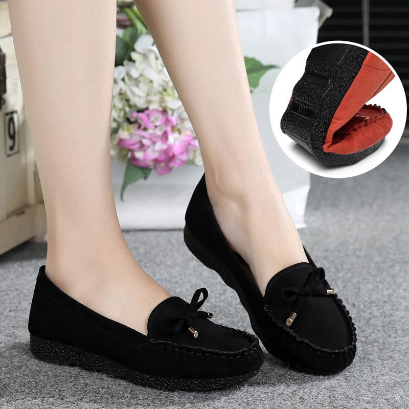 Pure Color Soft Working Casual Flat Shoes