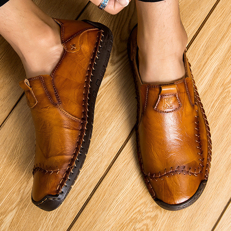 Men's Fashion Sewing Casual Business Flats Shoes
