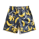 Banana Printed Couples Beach Shorts