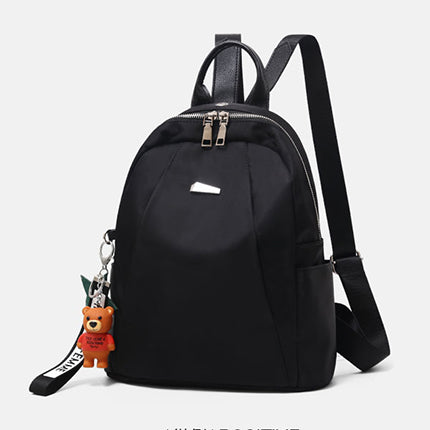 Women Solid Casual Daily School Oxford Backpack