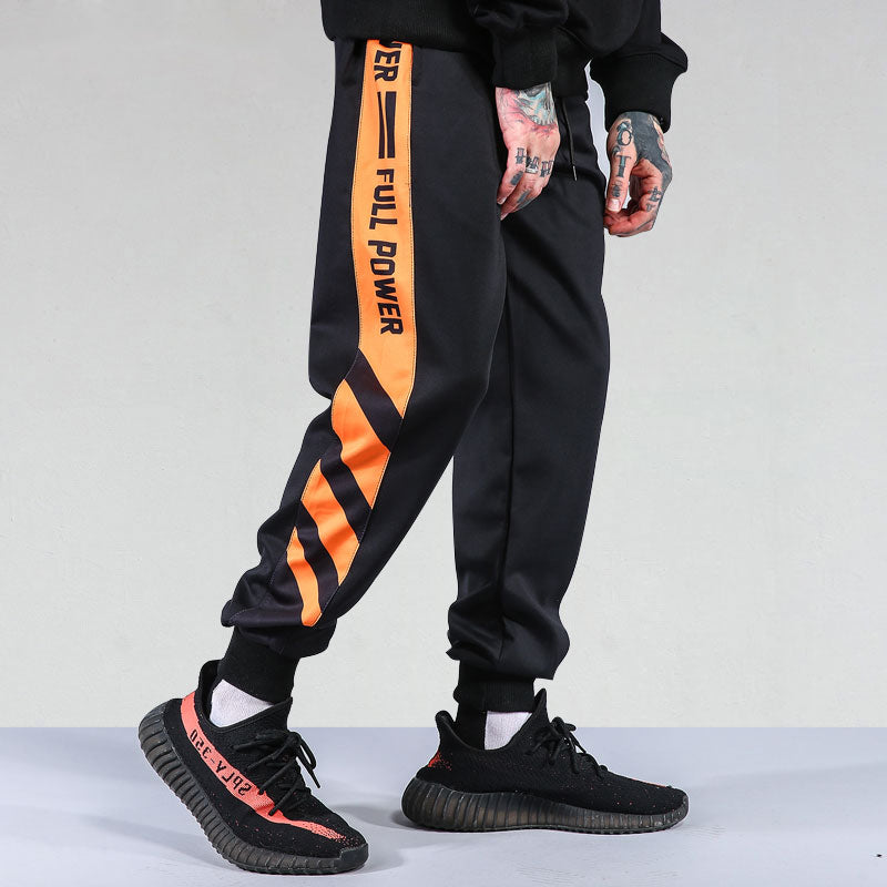 Striped Patchwork Harem Joggers