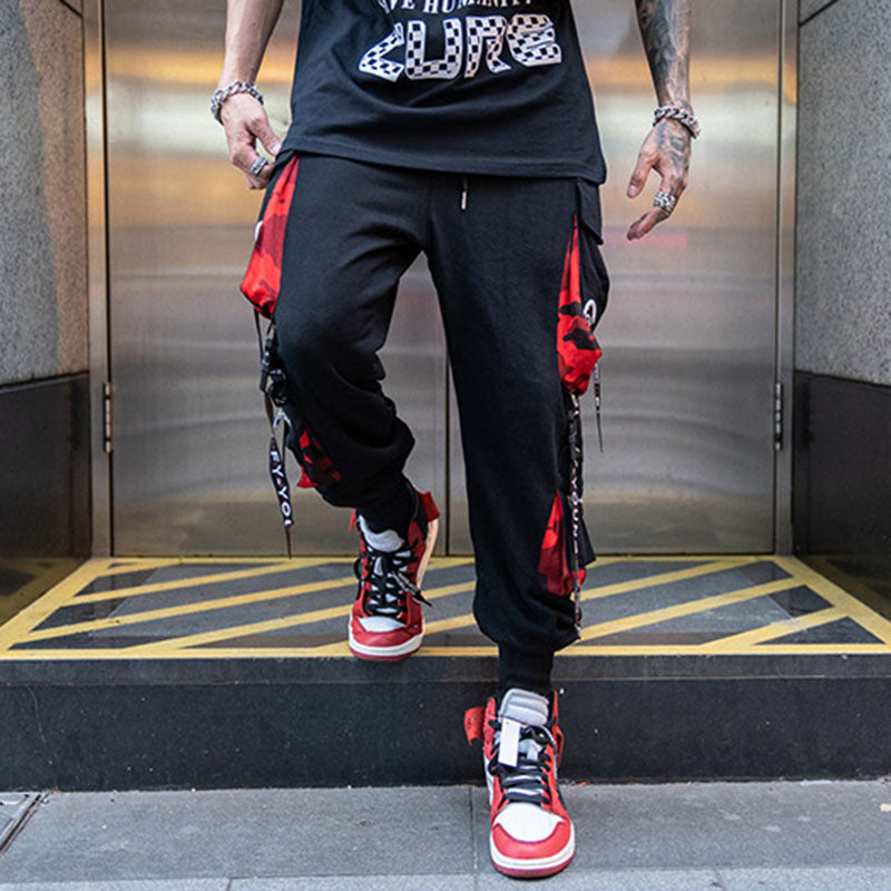 Block Hit Color Pocket Track Pants