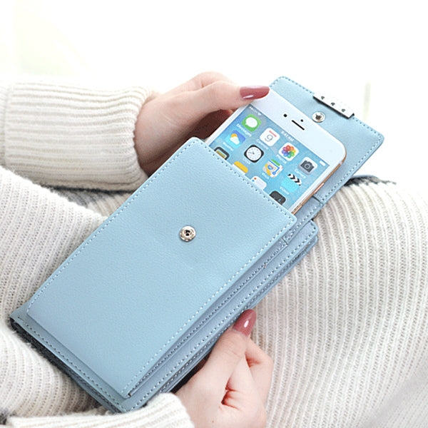 Women Big Card  Cell Phone Wallet Shoulder Straps Bag