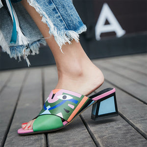 Woman Comfort Quality PU Leather Summer Sandals Pumps