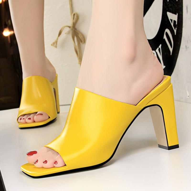 Daily Summer Open Toe High Heel Slippers