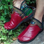 Handmade Comfortable Casual Round Toe Boot