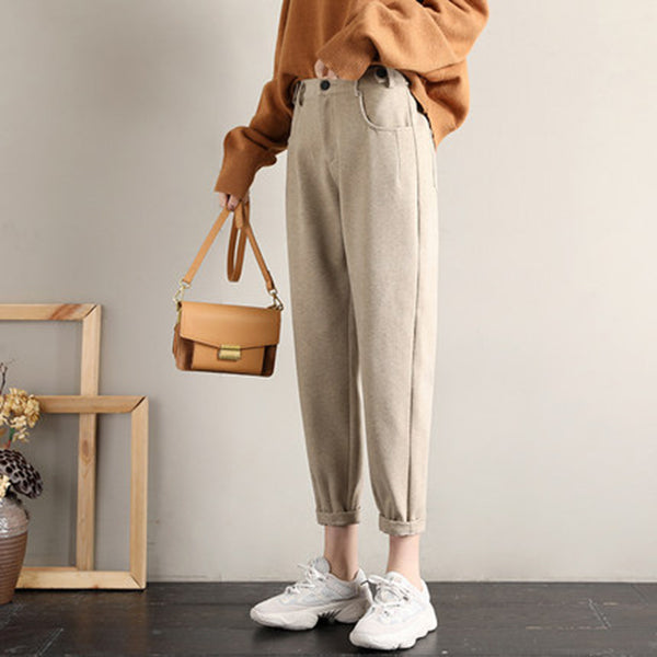 Women Woolen Harem Pants