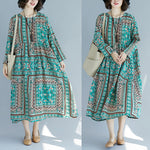 Large Size Cotton Linen Long Dress