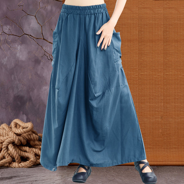 New Style Women Linen Loose Pants Dresses