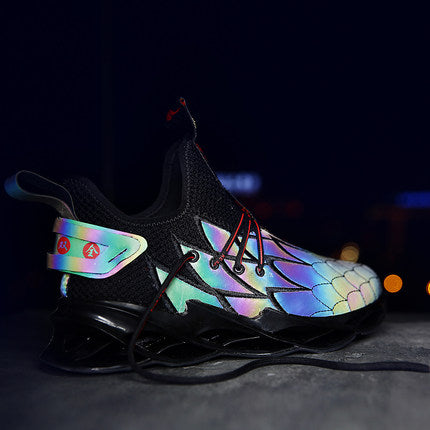 Breathable Reflective Embroidery Sneakers
