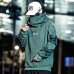 Loose Hip-Hop Multi-Pocket Sweatshirt With Fish Mouth Cap