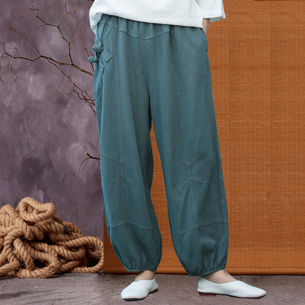 Vintage Linen Loose Wide Leg Pants