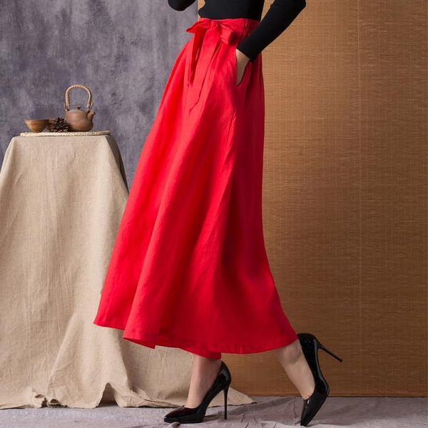 Breathable Linen Loose Wide Leg Pants