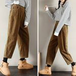 Plush Corduroy Casual Pants