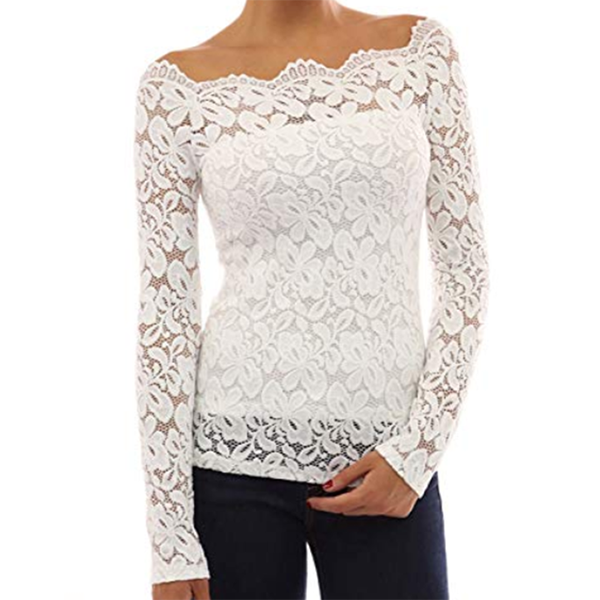 Women Floral Lace Off Shoulder Blouse