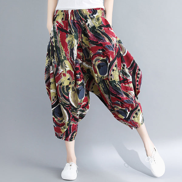 Loose Irregular Vintage Wide Leg Pants