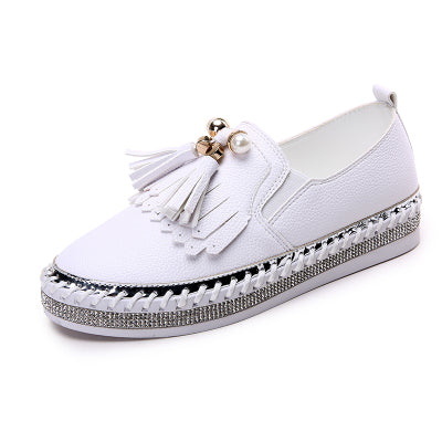 New Style Women Genuine Leather Creepers Flats