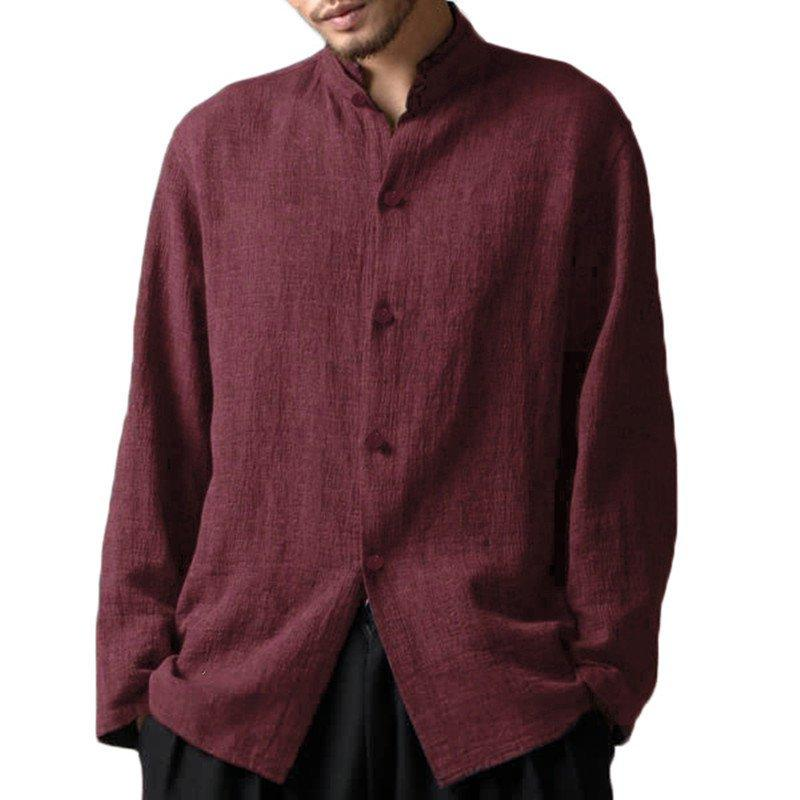 Men's Casual Collar Loose Cotton Shirts