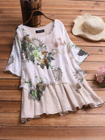 Cotton Linen Irregular Large Size Dress