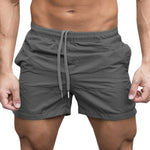 Men Elasticated Waist Drawstring Shorts Gym Sports Jogging Shorts
